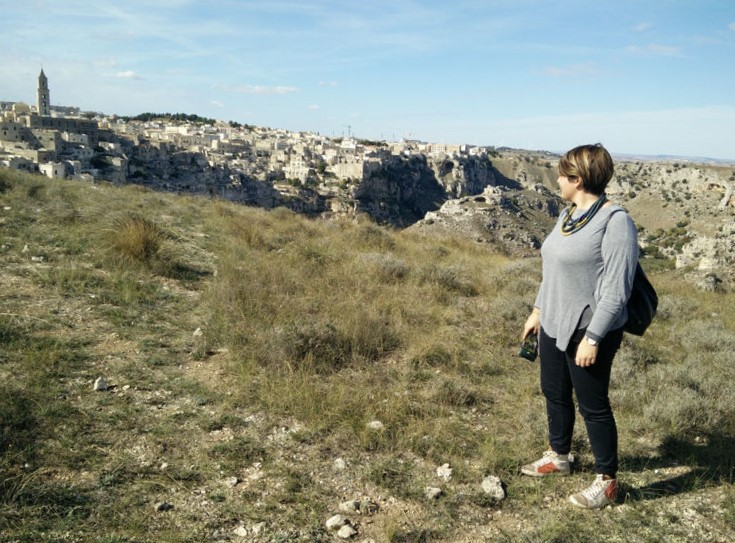 Scorcio di Matera vista dal Parco della Murgia Materana