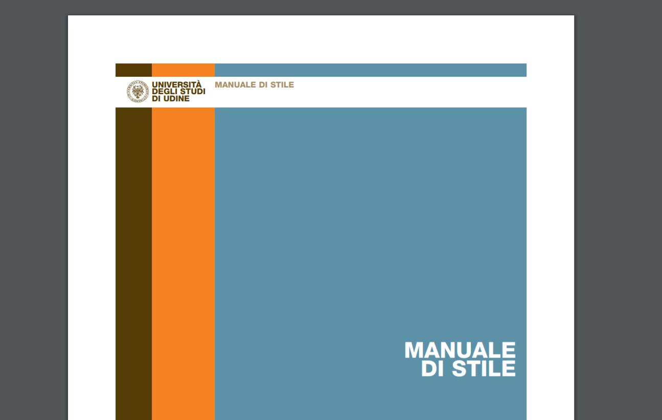 Esempio di un manuale di stile in PDF