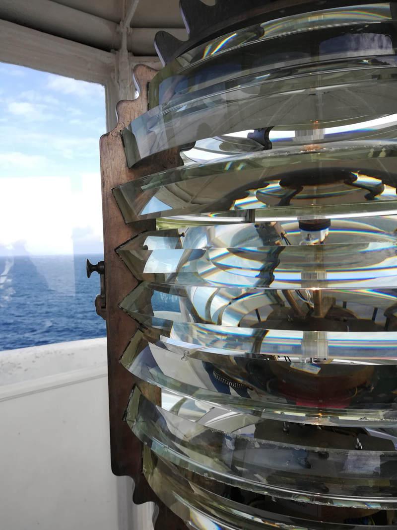La lanterna del faro di Punta Palascìa