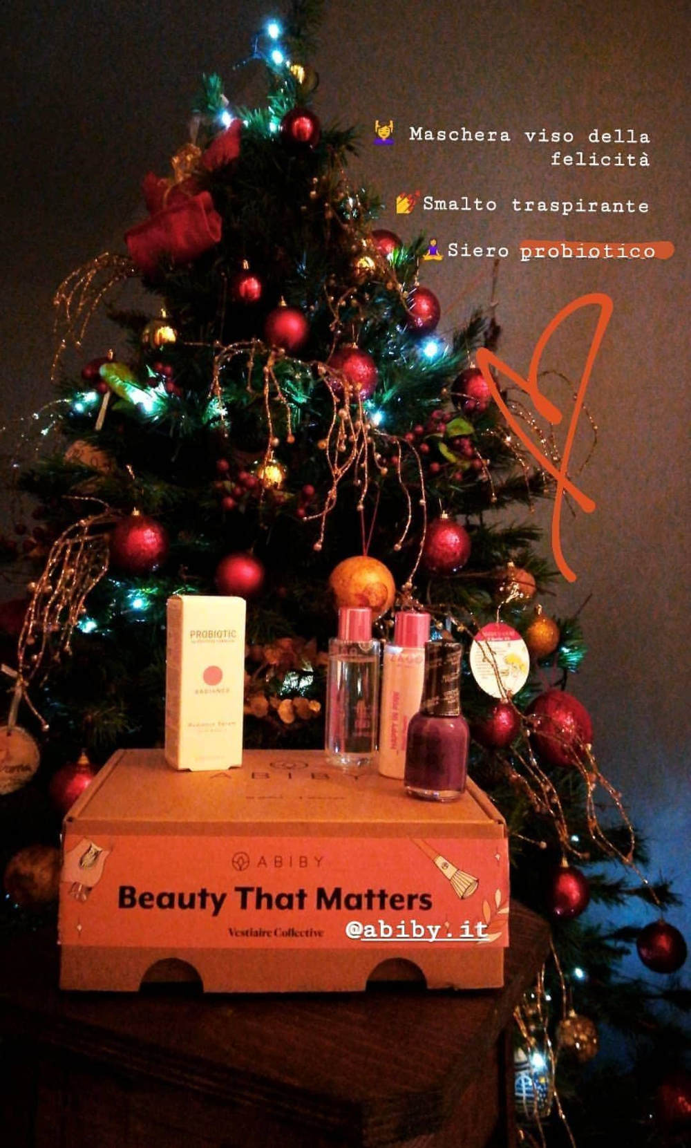 Beauty box natalizia di Abiby